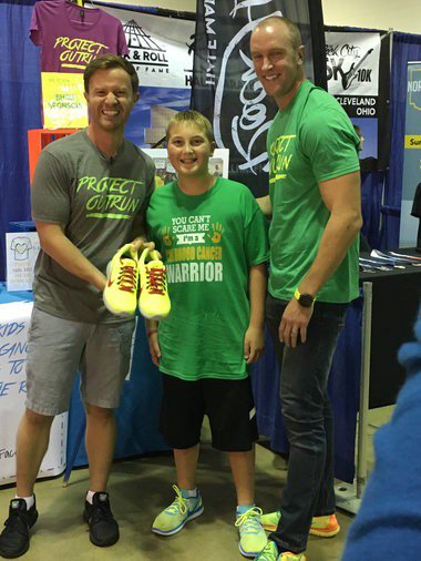 Project Outrun empowers Akron Children's Hospital cancer survivors through custom-designed running shoes (photos)