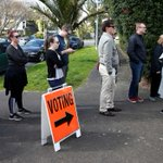 New Zealand election: Polls close in tight race, record numbers vote in advance
