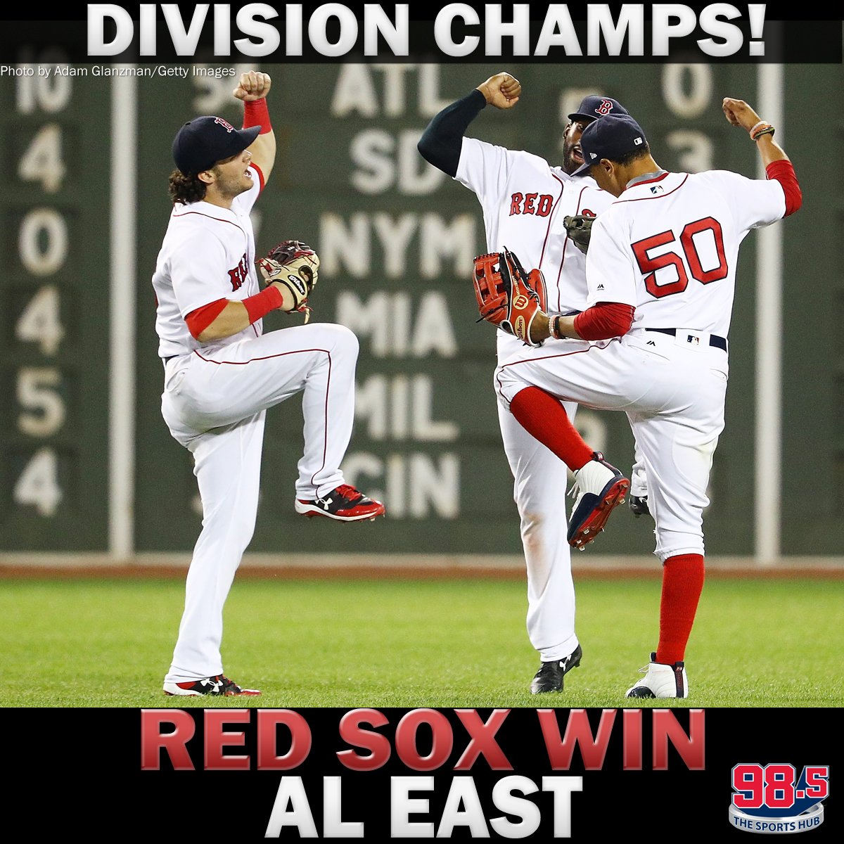 The Red Sox are division champs! https://t.co/zDO5FMhCvf https://t.co/tnXnTi3NcU