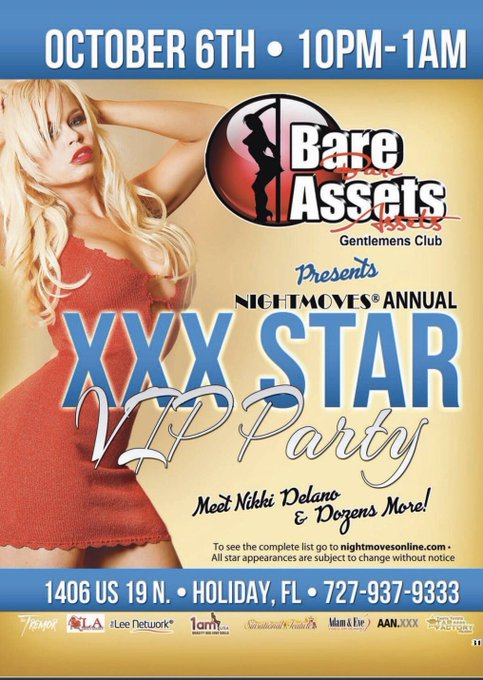 2 pic. Meet me live in Tampa Florida at @NightMovesShow #Caravanofstars Oct 5-8 up got Adult feature