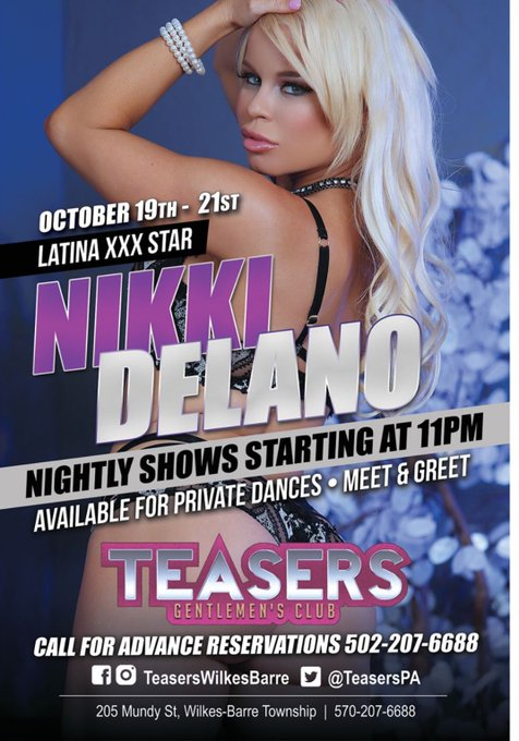 Meet me live Oct 19-21st in PA at @TeasersPA for 3 sexy nights 👯 https://t.co/ar7cqz5ayr