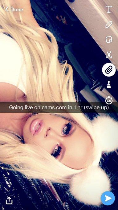 Going live on https://t.co/P6da060WjM in 1 hr (swipe up) Snapchat: Nikkidelanoxxxx (4xs) @camsdotcom