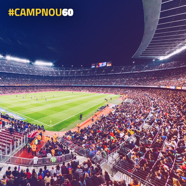 �� Camp Nou turns 60 tomorrow! ��Join us in celebrating and share your most unique Stadium moment! #CampNou60 https://t.co/TzSOk7DCbl