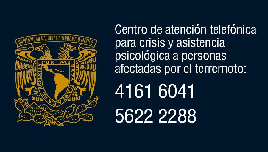 La UNAM pone a disposición línea de atención psicológica > https://t.co/JmWXC6xfvw https://t.co/Nkeslr4Hsk