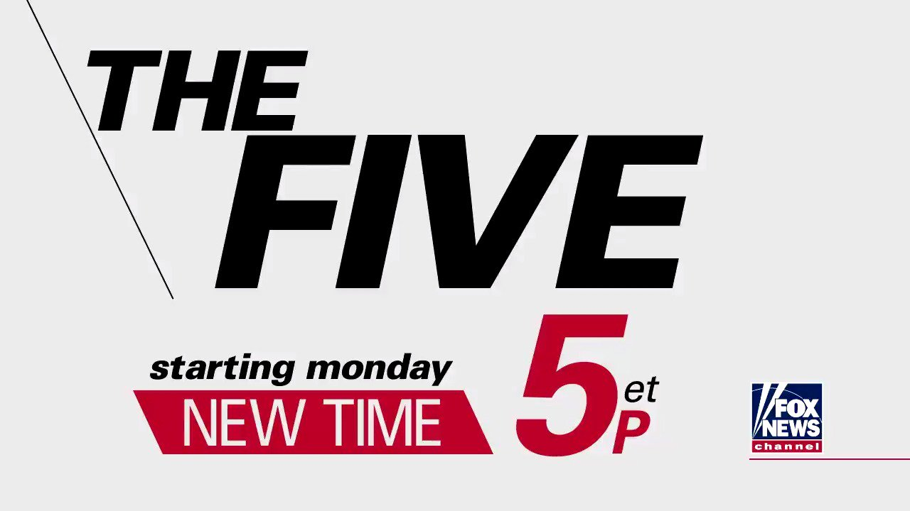 .@TheFive moves back to 5p ET starting Monday. Tune in to @FoxNews Channel! https://t.co/hG2qz7XzAm