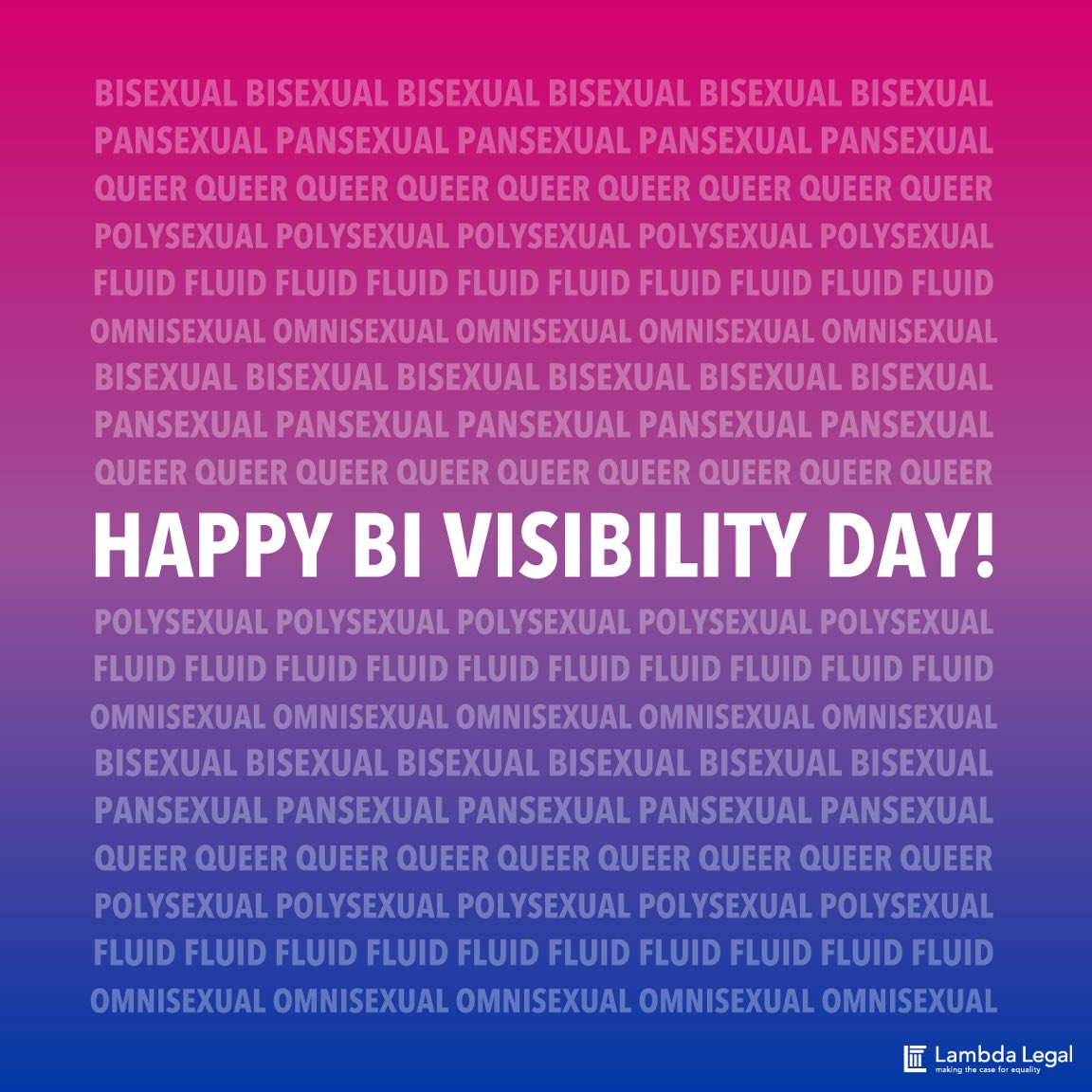 No matter how you identify, you are valid. And you belong. Happy #BiVi...