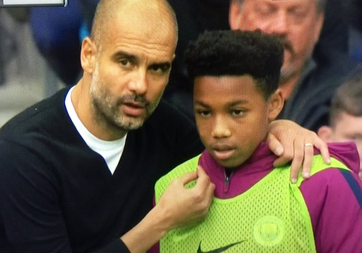 Nothing to see here, just Pep Guardiola giving tactical instructions t...