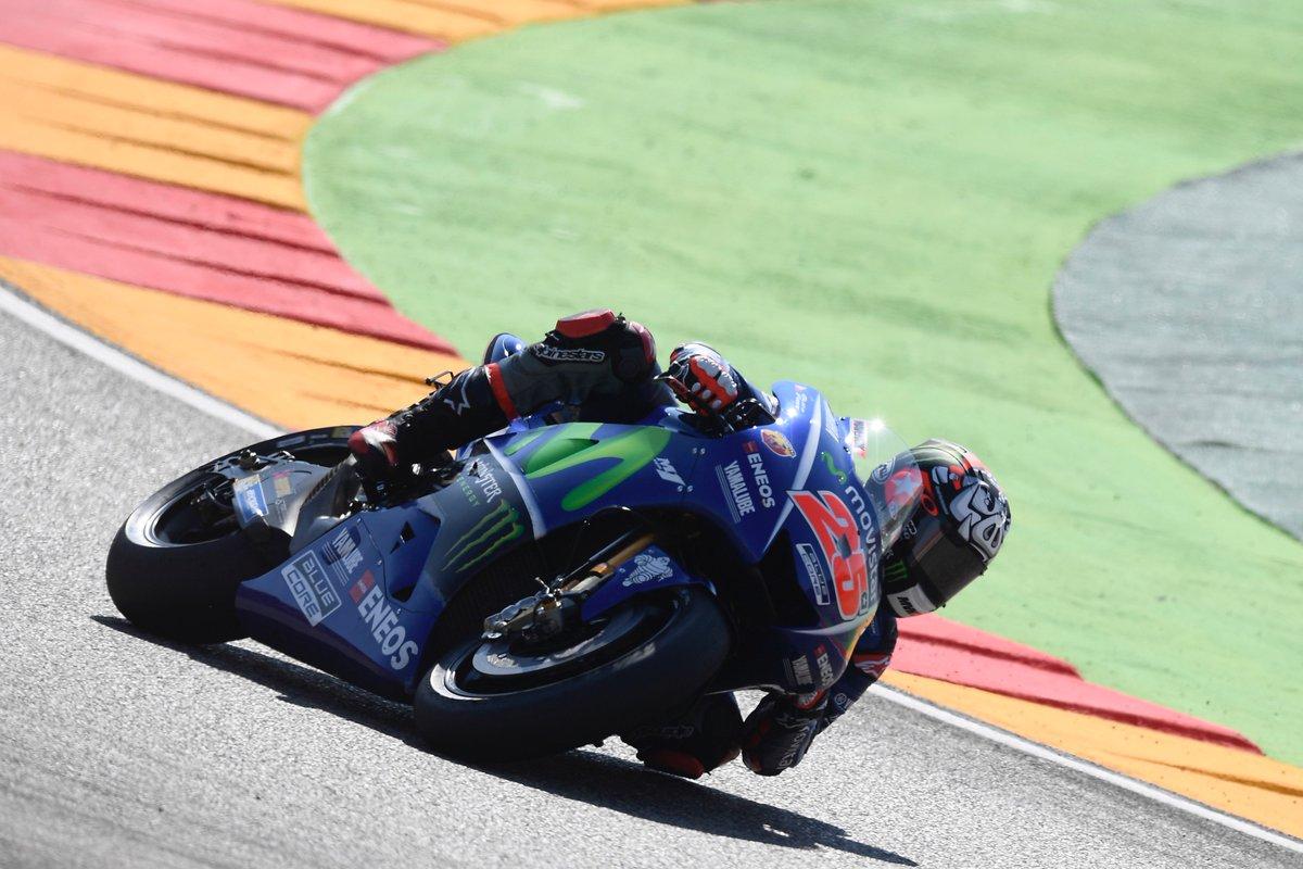 test Twitter Media - The blue matadors brought home the results on day 2 in Aragón. #MovistarYamaha #MotoGP #AragonGP https://t.co/tZ0KYERJDz