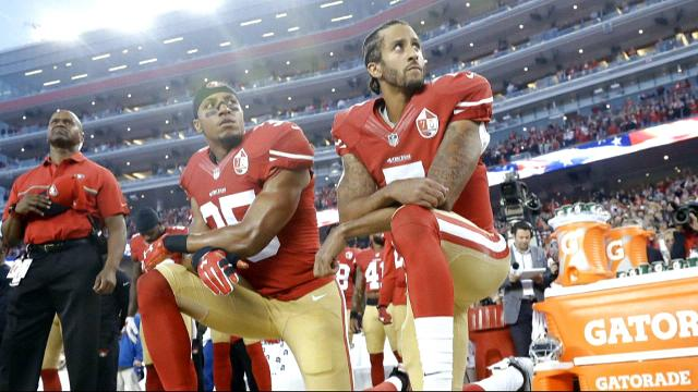 Trump says American football players who kneel during the national anthem should be fired