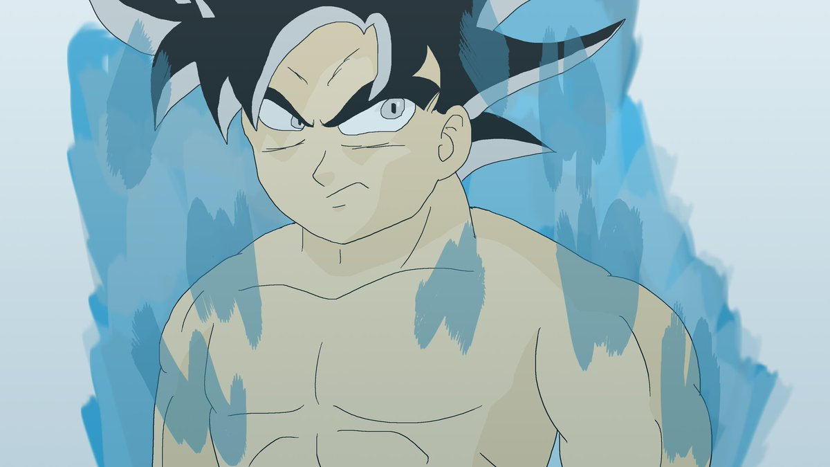 And here's a quick drawing of Goku's new form, coming soon i