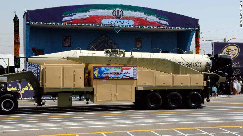 Iran tests new ballistic missile hours after showing it off at military parade https://t.co/PtT8oW1WSo https://t.co/SpMRMOUunA