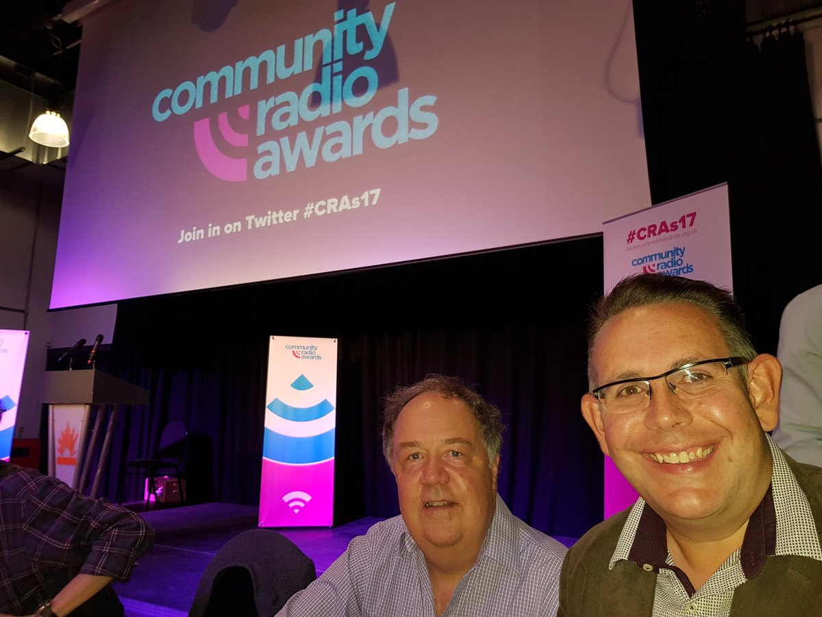 We're having a great time the Community Radio Awards 2017 fingers cr...
