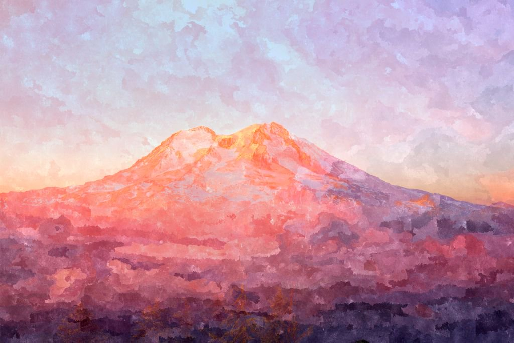 Lovely painting of @MountRainierNPS.. https://t.co/C0W4Id8SY5 https://t.co/tk8XQlB08d