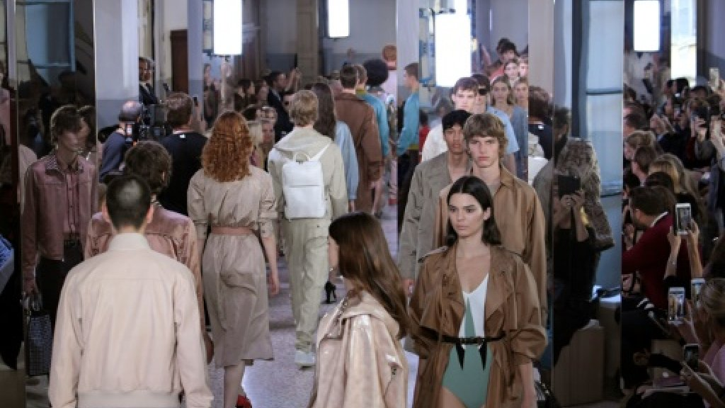 Bottega Veneta 'in da club' at Milan fashion week