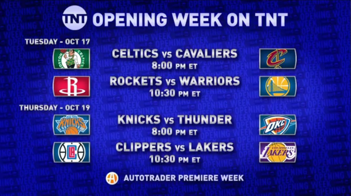 It's going to be an exciting opening night. More on the matchups NEXT on #GameTime.