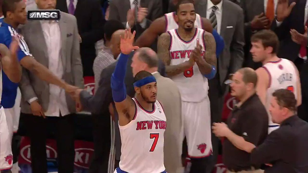 Before he heads to Oklahoma City, check out @carmeloanthony's top ten plays with the @nyknicks.
