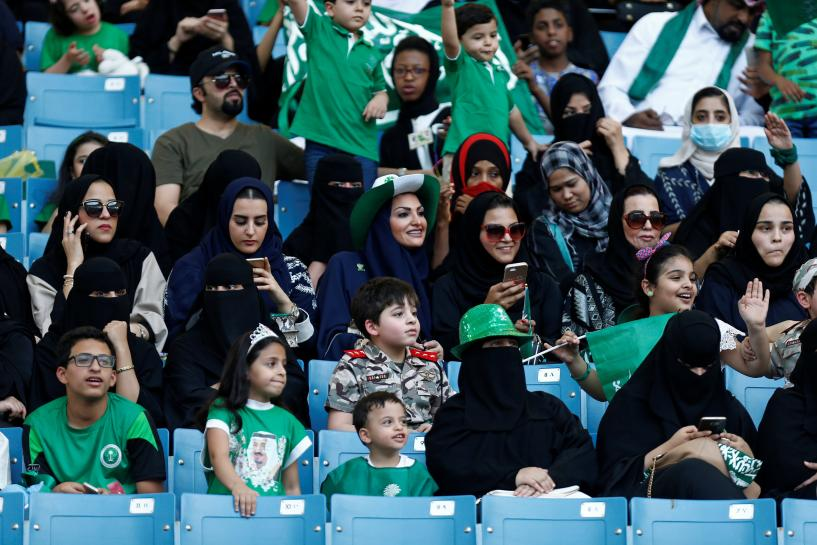 National celebrations open Saudi sports stadium to women for first time https://t.co/L7Dou4v8b6 https://t.co/Zs5DgxQFNl