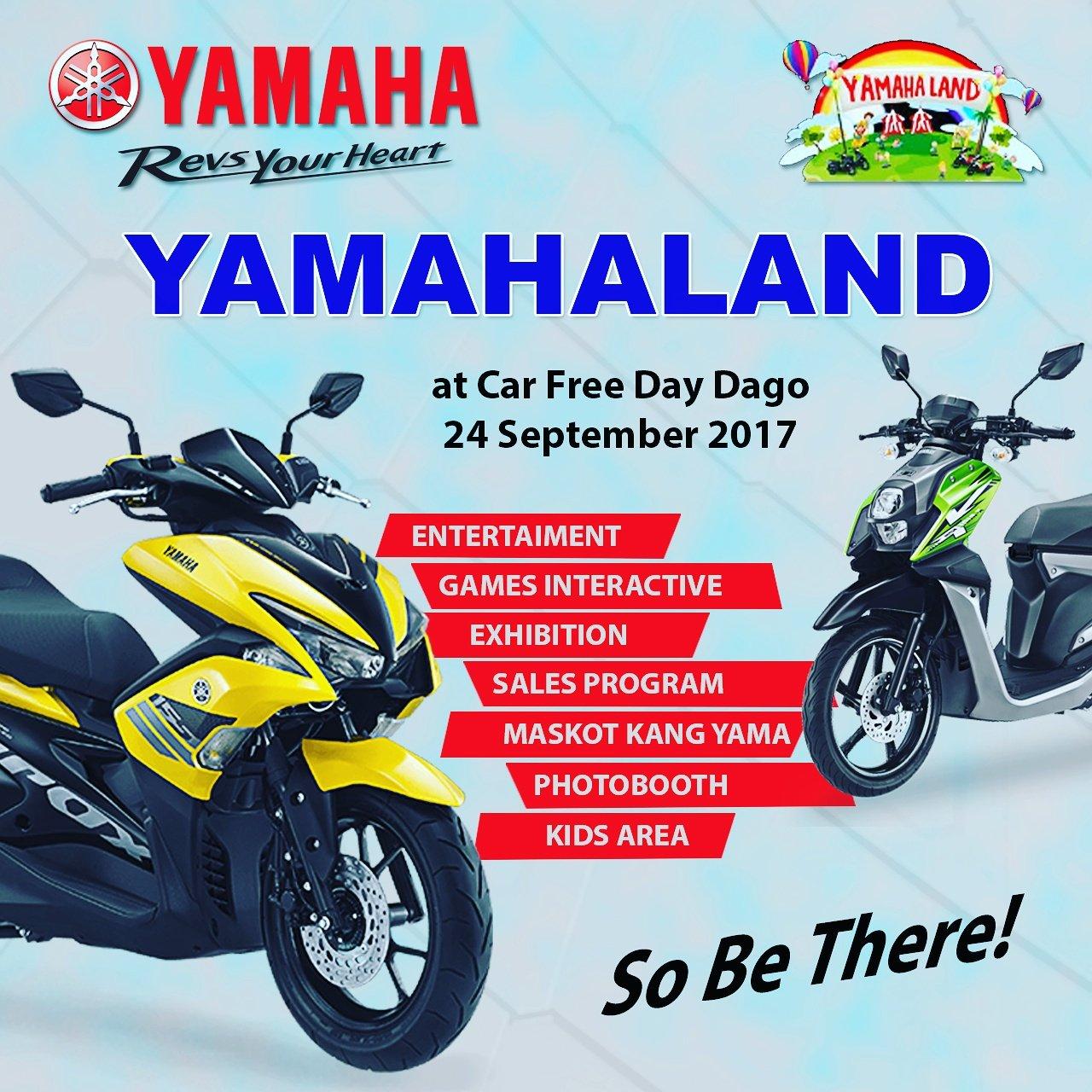 Todaaaay!!! So, RAMAIKAN! :)) #eventbdg #yamahaland #cfddago #yamaha #aerox #soulgt #xride #bandung https://t.co/1CIgQEnxys