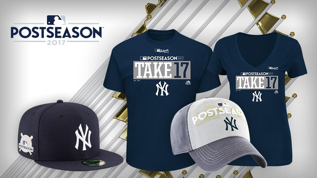 Time to update your October wardrobe. Get your @Yankees #postseason gear now! https://t.co/G90RlPTB8Q https://t.co/Eiu8DkBkZ3