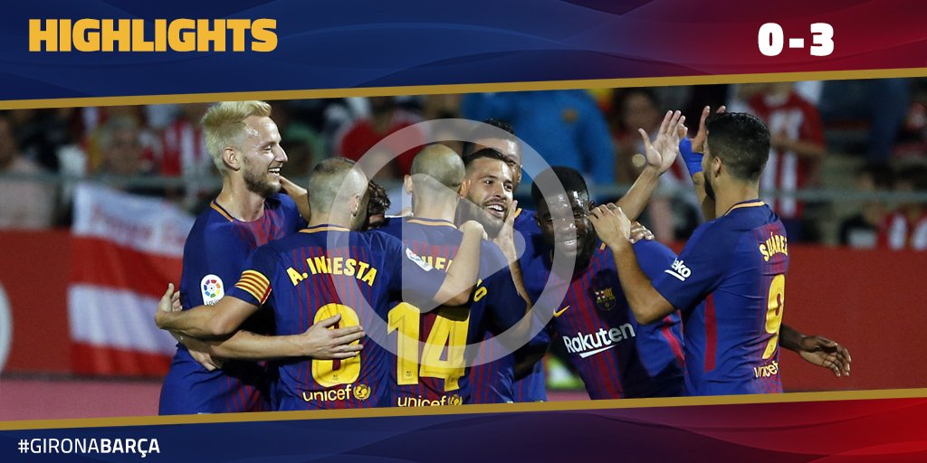 ⚽️ #GironaBarça (0-3) �� HIGHLIGHTS �� https://t.co/DjhJxK9ydr ���� #ForçaBarça! https://t.co/uXTt5QJol7