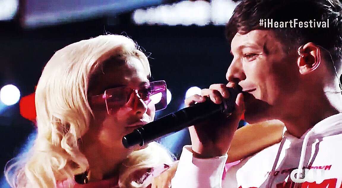 Lord idk what we did to deserve such blessings, but thank you. #iHeartFestival @Louis_Tomlinson @BebeRexha �� https://t.co/lWhKWGT9WD