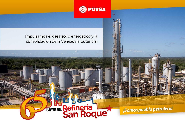 Petroleros de Refinería San Roque ratificamos lealtad a la Patria y al Pdte. @NicolasMaduro https://t.co/e7HvuuQNEd
