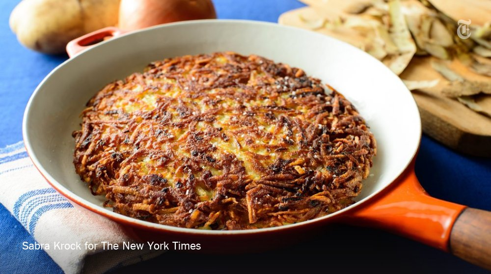 Looking for a new recipe? Try this potato nik. It's basically a giant, crisp potato pancake. https://t.co/Z7w5OJC9JP https://t.co/fxkD8V0jQ7