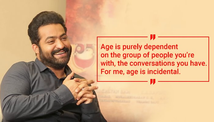 #JaiLavaKusa in reel life, a wise personality in real life → @tarak9999 @FilmCompanion