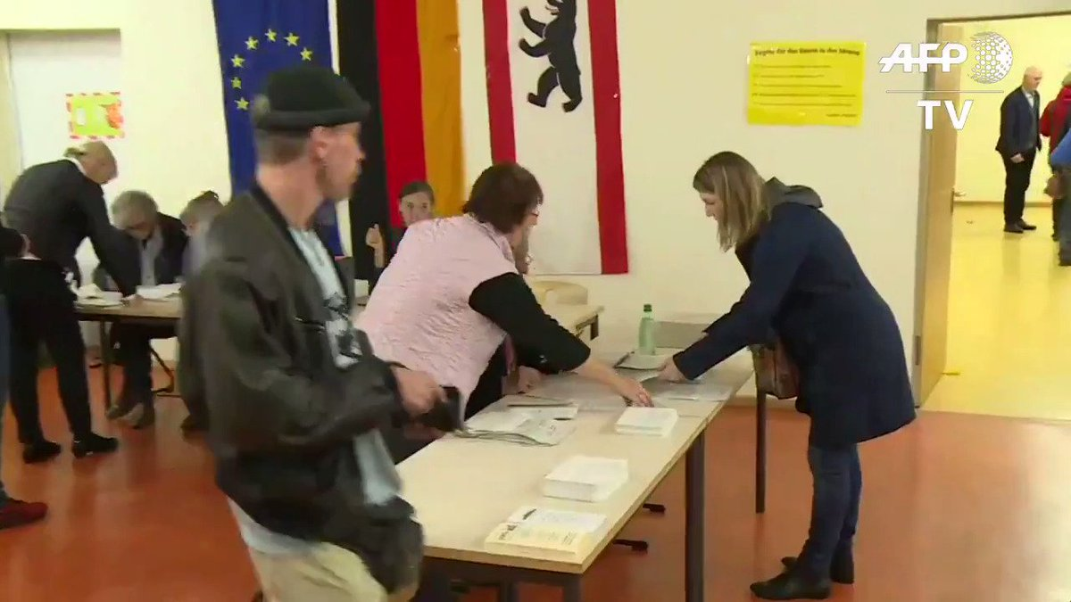 Polls open in Germany's general election, with Merkel expected to triumph #GermanyDecides