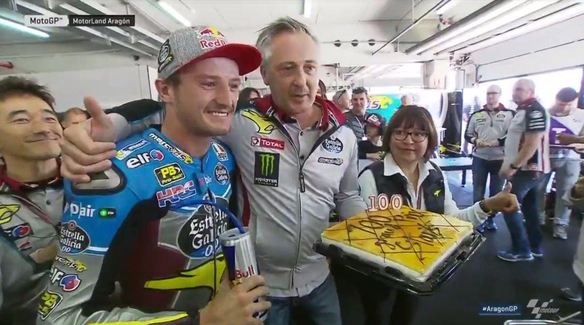 test Twitter Media - Big day for @jackmilleraus - celebrating his 💯th Grand Prix!  (Save us a slice, pls😋)   #AragonGP #MotoGP https://t.co/0fzMOctx4l