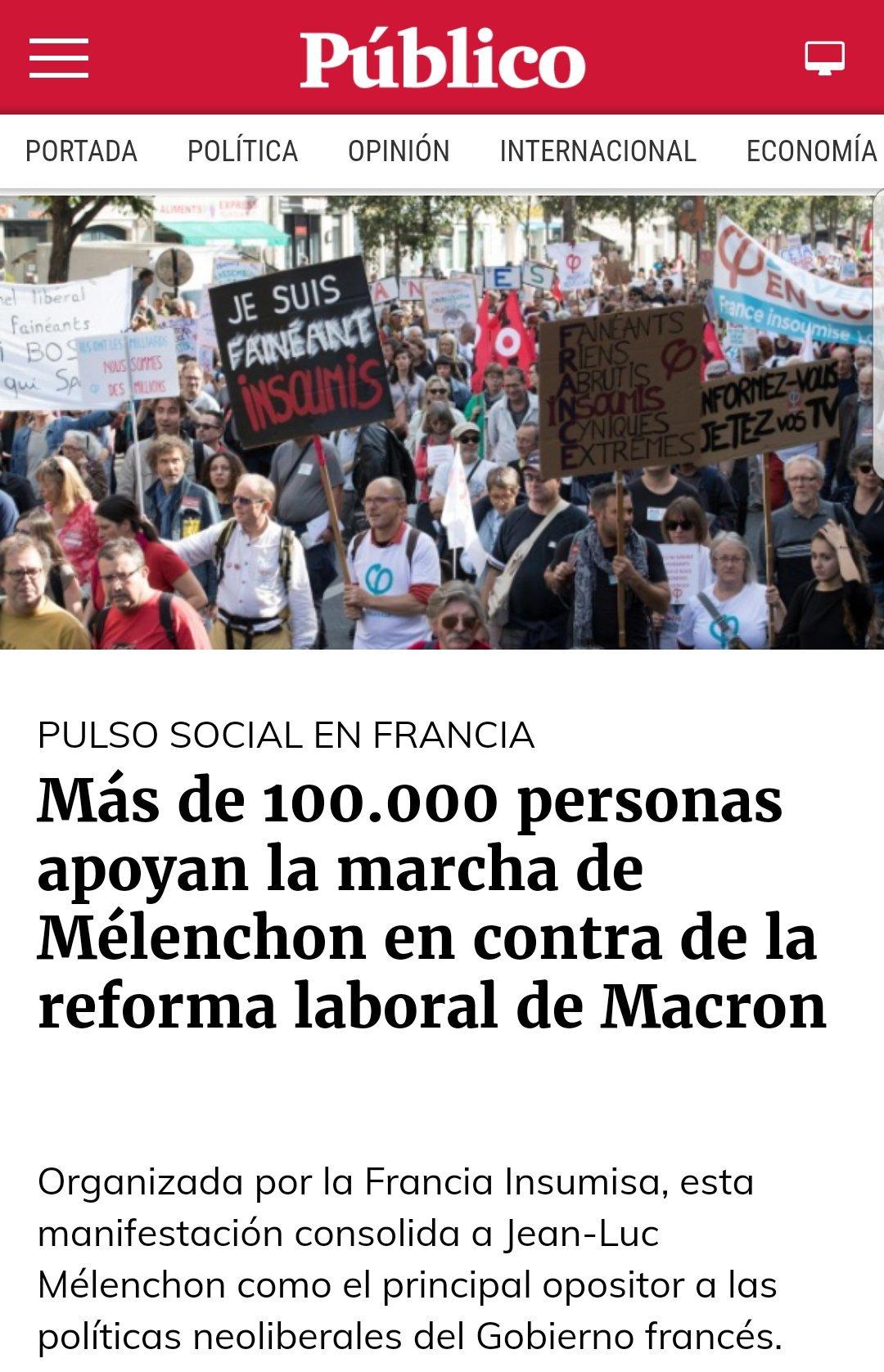 Los franceses nos siguen llevando 2 siglos de ventaja. Qué envidia. Estamos dormidos #Melenchon https://t.co/reM7owtMsu