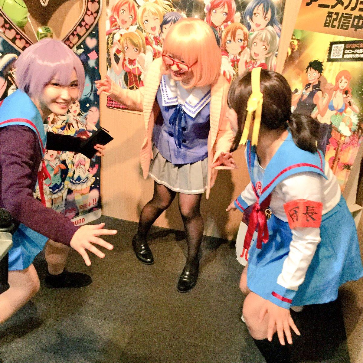 にゃーーーん!!!ヽ(*^ω^*)ノちよゆのみかりんのフレッシュな3人組でスタート!後から、あこマカはるのが来ます!ちよ
