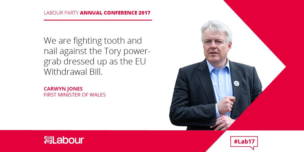 We are fighting tooth and nail against the Tory power-grab dressed up as the EU Withdrawal Bill. @fmwales #Lab17