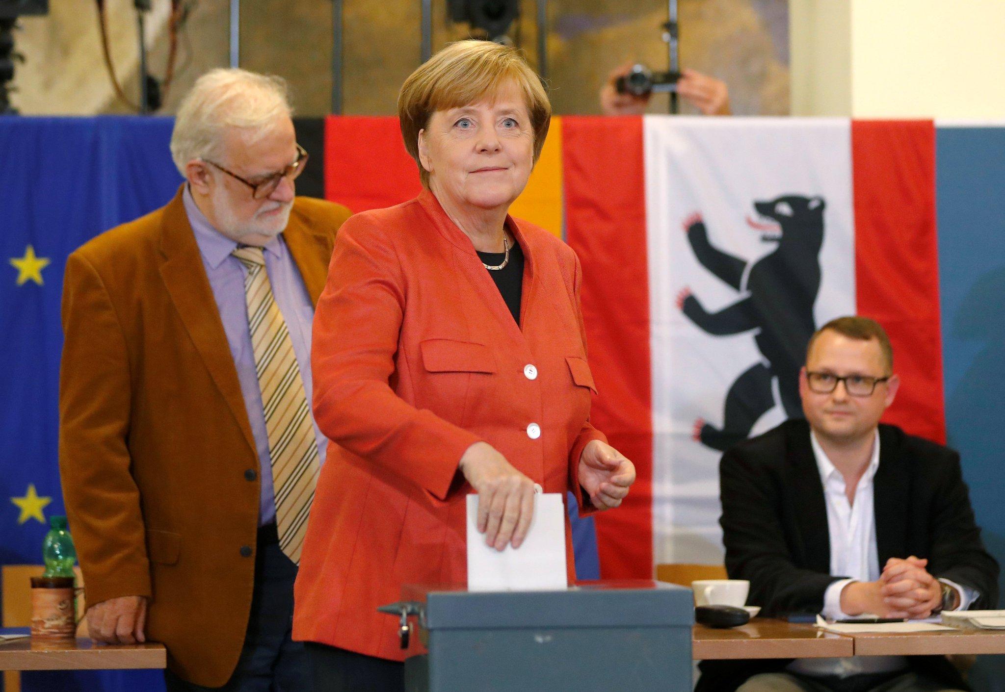 Angela Merkel se perfila para un cuarto periodo como mandataria de Alemania https://t.co/uN4IYNXm1k https://t.co/ufZ0mY26PE