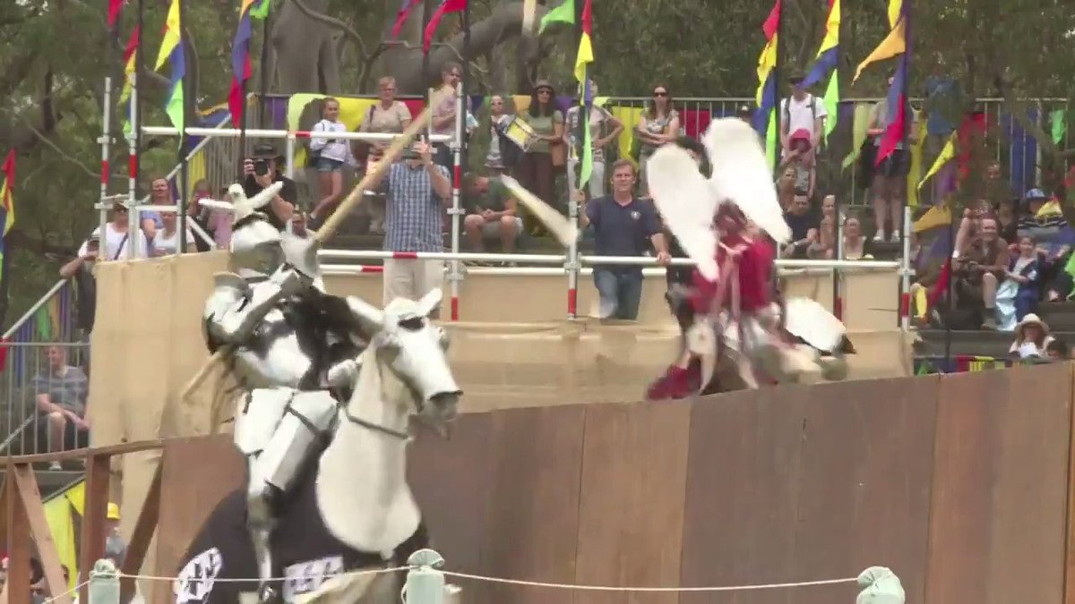Knights joust and vikings clash at medieval fair in Sydney #StIvesMedieval