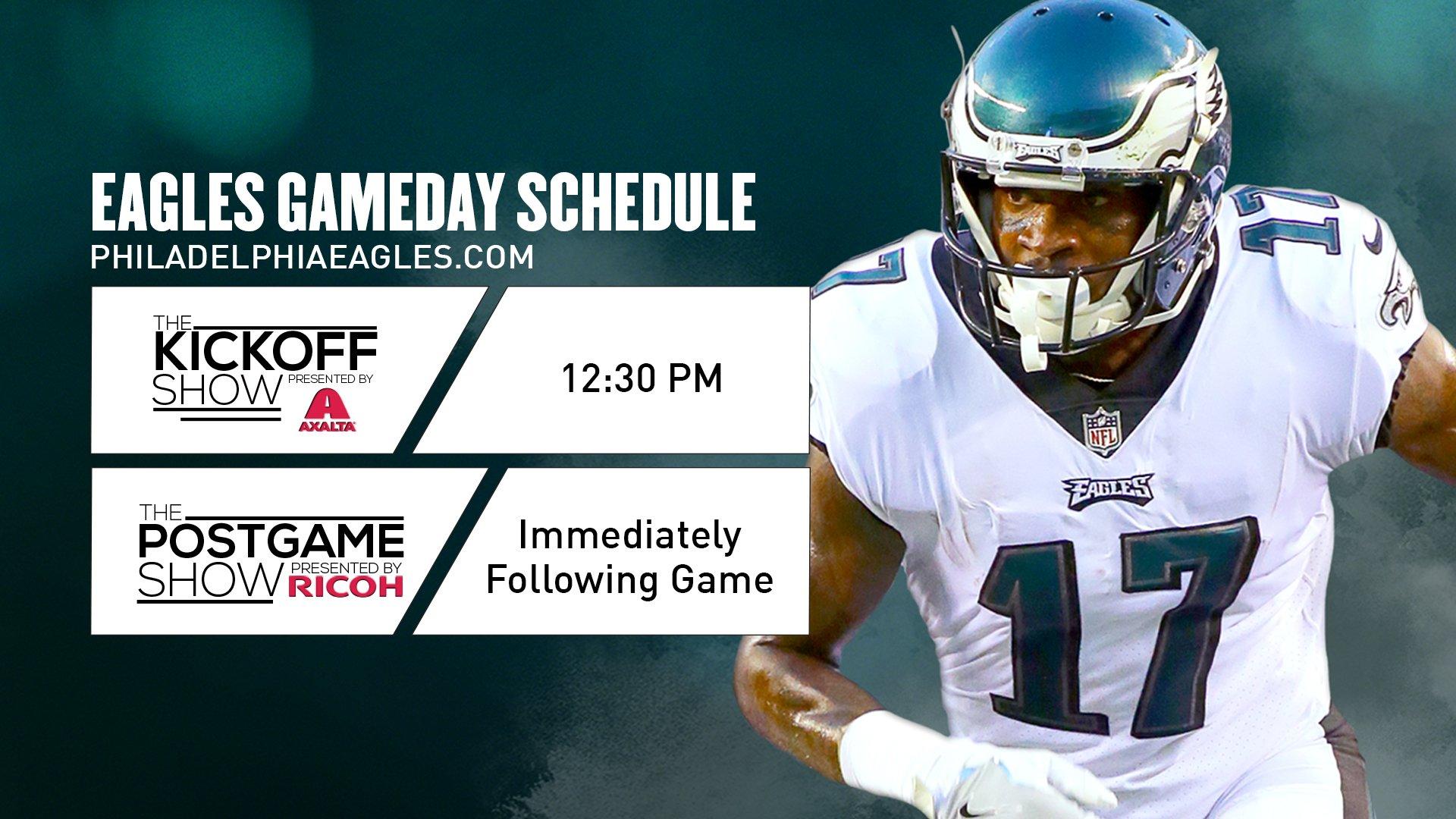 Today's #NYGvsPHI gameday schedule. #FlyEaglesFly https://t.co/fbkYvfaKNK