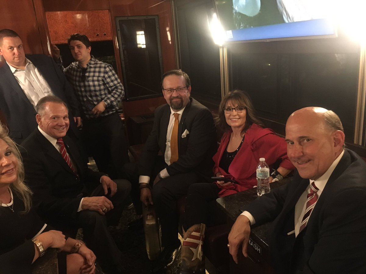 Had a great time in AL this week supporting Judge Roy Moore @MooreSenate!