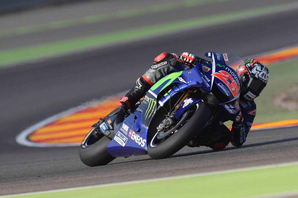 test Twitter Media - Some very close racing by @maverickmack25 & @ValeYellow46 sees them take 4th and 5th place respectively. #MovistarYamaha #MotoGP #AragonGP https://t.co/2RFFHiwAFz
