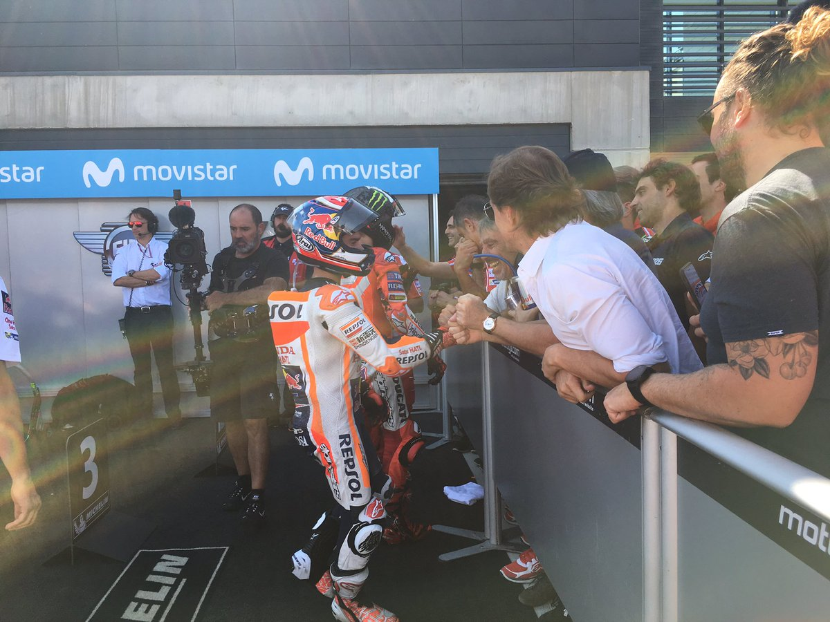 test Twitter Media - Awesome race @26_danipedrosa in 8th podium this season. 👏🏽👏🏽👏🏽#AragonGP https://t.co/30myaWrFHG