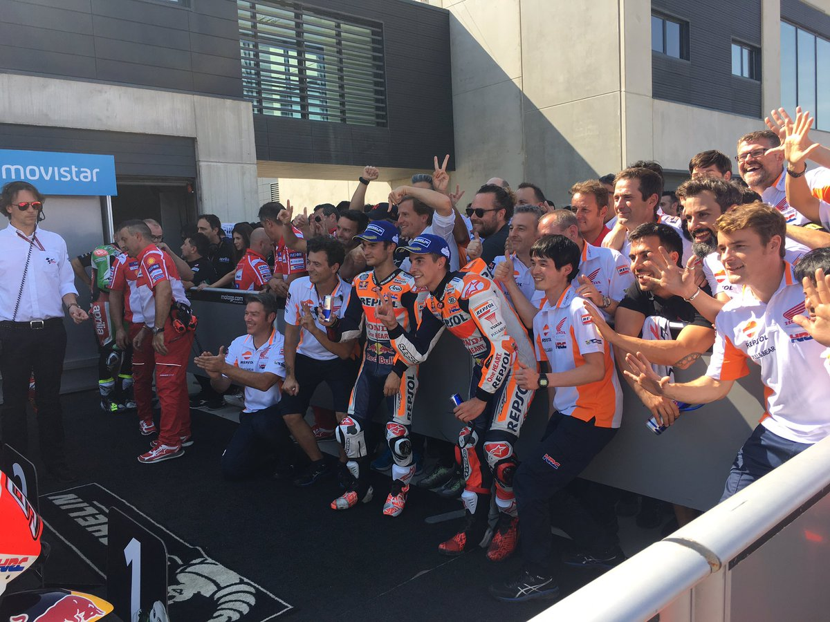test Twitter Media - 7th double podium of the season for Repsol Honda Team @marcmarquez93 @26_danipedrosa ! Thanks guys! #AragonGP https://t.co/8mJ1cjSFq6