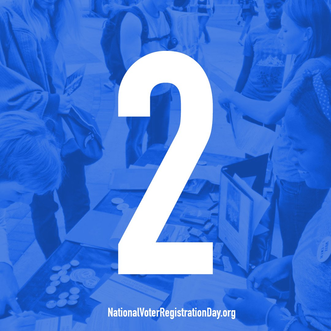 TWO DAYS until #NationalVoterRegistrationDay on 9/26! Find events near...