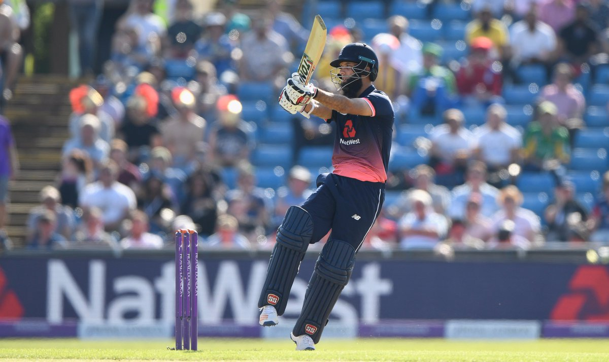 53-ball 💯 for Moeen Ali. Take a bow.Second fastest ODI hundred by an England player #ENGvWI