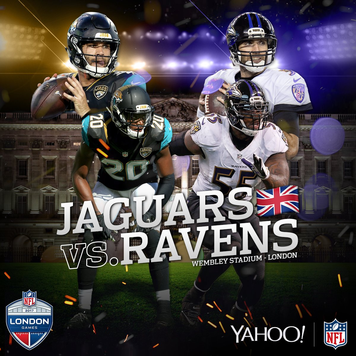 The @Ravens. The @Jaguars. In London!  #WatchWithTheWorld right now on @Yahoo: https://t.co/rwXjz93NUD #BALvsJAX https://t.co/djIHs0XkFB