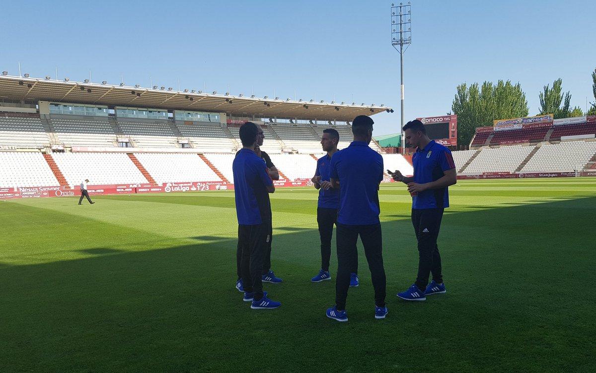 Sol y calor. Ya estamos en el Carlos Belmonte #AlbaceteRealOviedo