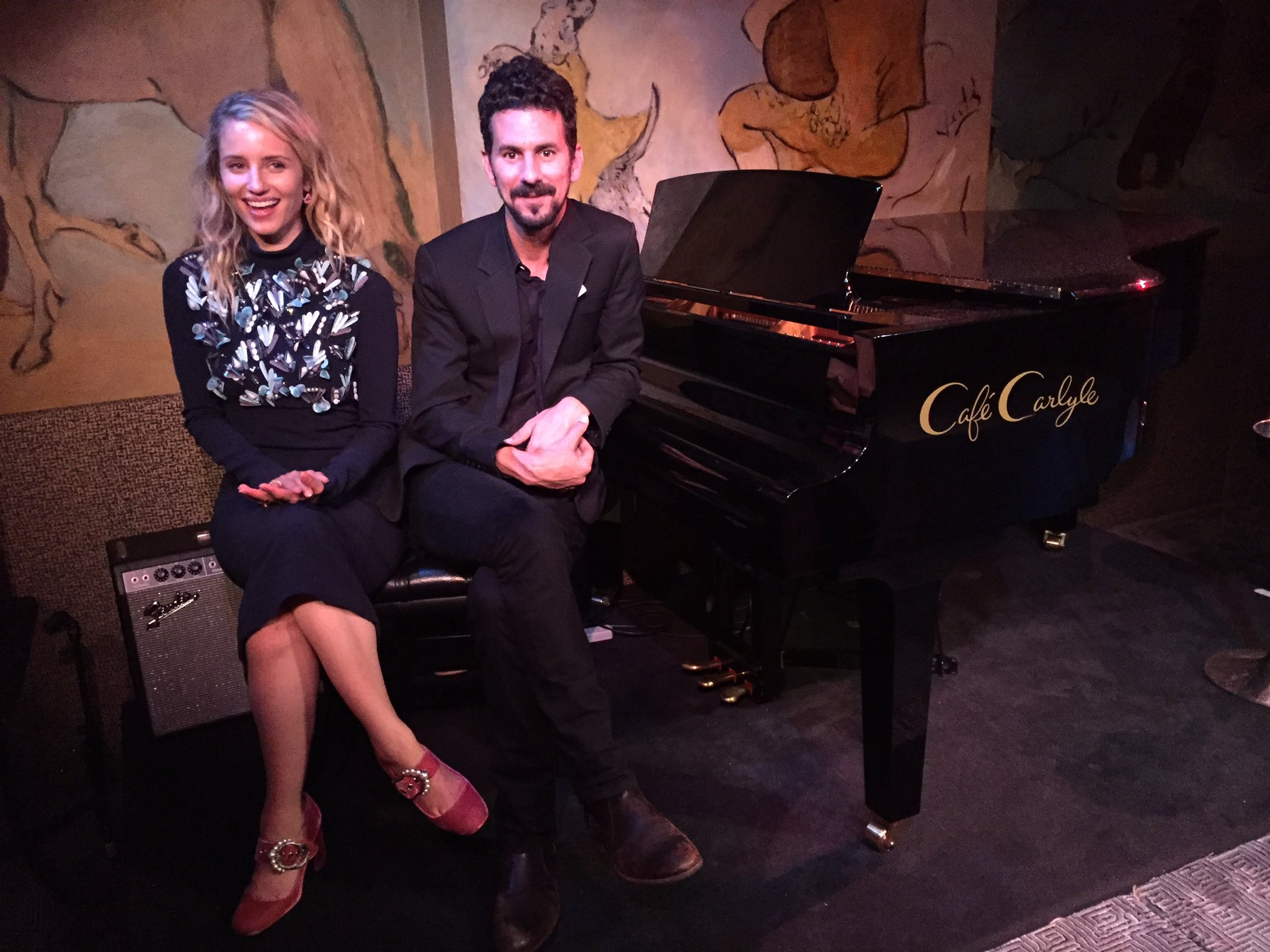 Post five night run bliss with @gilllandry at @CafeCarlyle. https://t.co/T2oGgml6MX