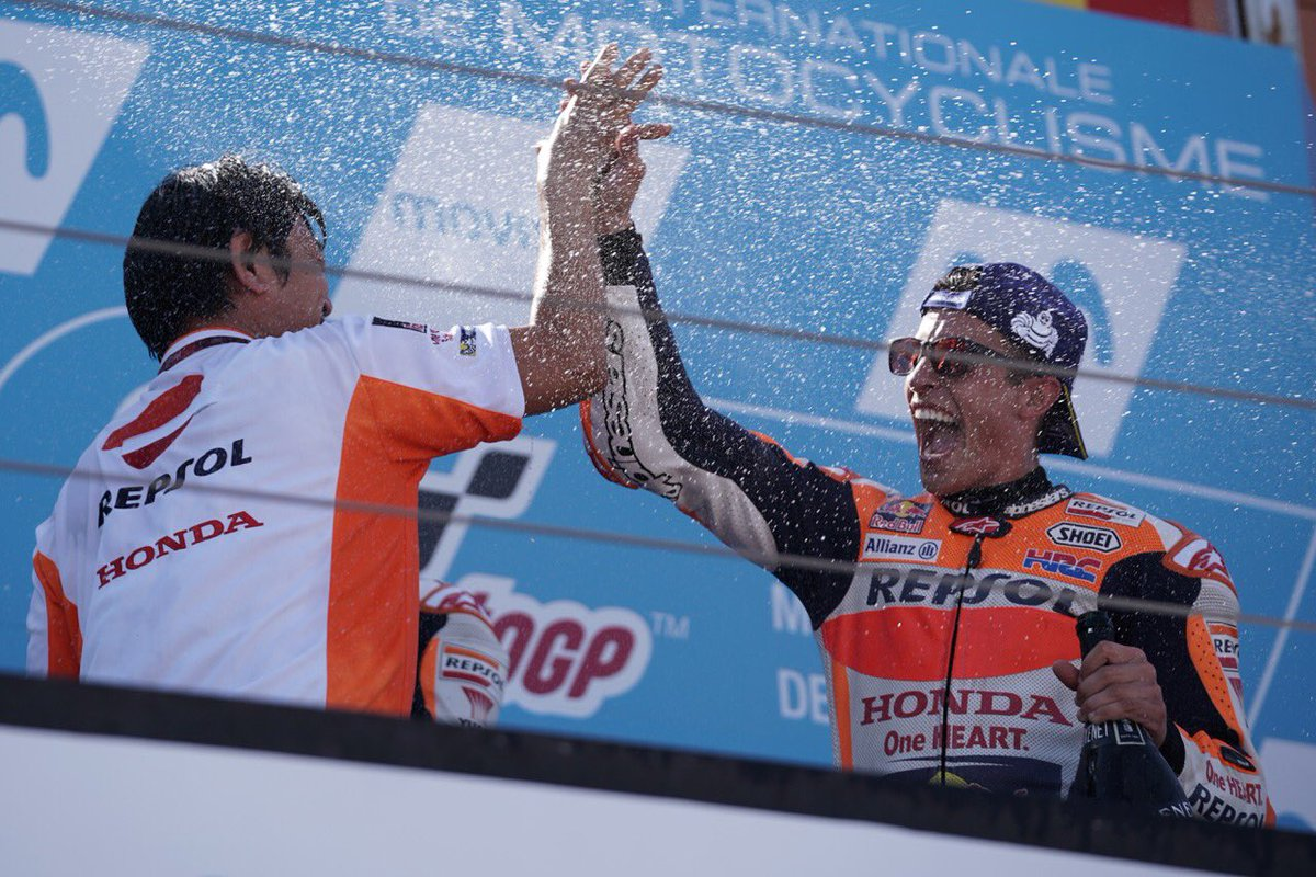 "test Twitter Media - ""I'm very happy with this victory because it was a tough race. Yesterday I wasn't feeling comfortable with the bike"" 🎙#MM93 1st @ #AragonGP https://t.co/EfQyDOajld"