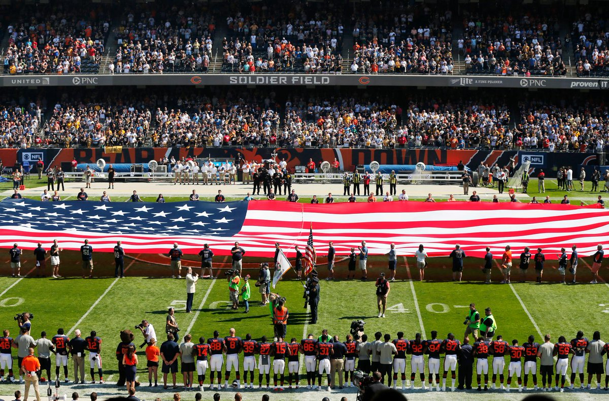 The Steelers remained in the locker room during the National Anthem. [...