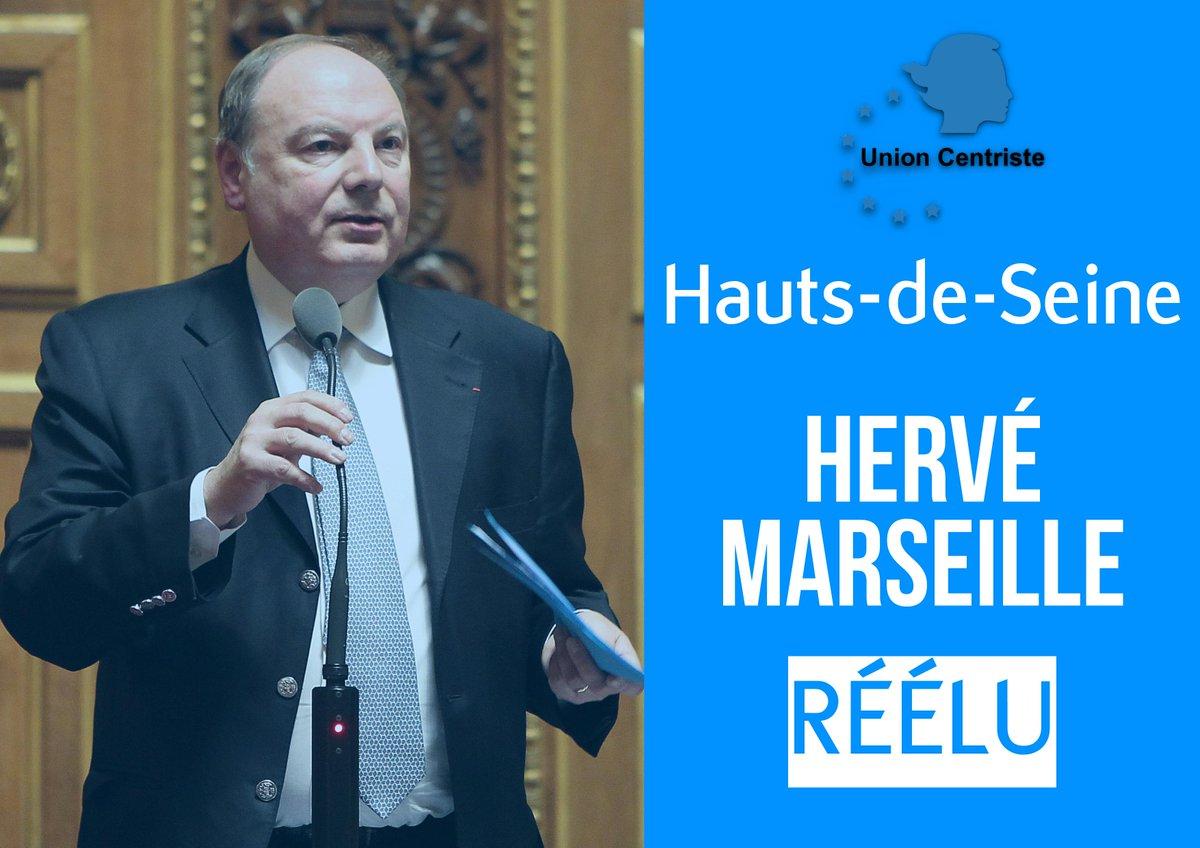 Félicitations à @HerveMarseille pour sa réélection dans les Hauts-de-Seine ! #sénatoriales2017 @Senat
