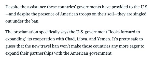 ?!?!? Trump's new travel ban specifically targets America's partners in the war on terror. https://t.co/jAru6XXWNV https://t.co/XwVm3yXooi