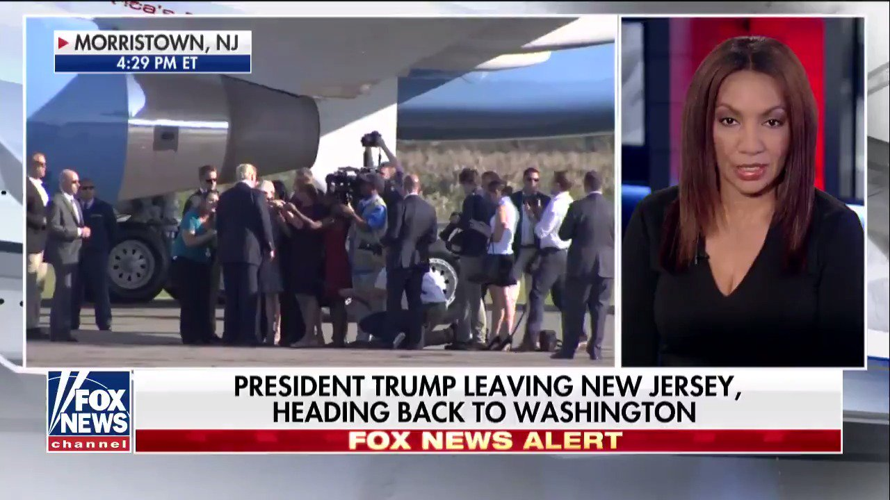 News Alert: @POTUS leaving New Jersey, heading back to Washington. https://t.co/2rGmYcKrkU